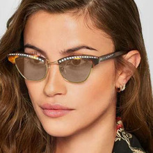 PAWXFB 2018 Vintage Celebrity Cat Eye Diamond Sunglasses Women Hand Made Sun Glasses High quality Eyeglasses Oculos Shades