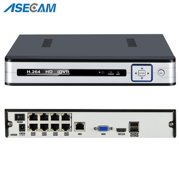 New 4CH 8CH 48V PoE 1080P H.265 NVR All-in-one Network Video Recorder for PoE Onvif IP Cameras P2P XMeye CCTV System