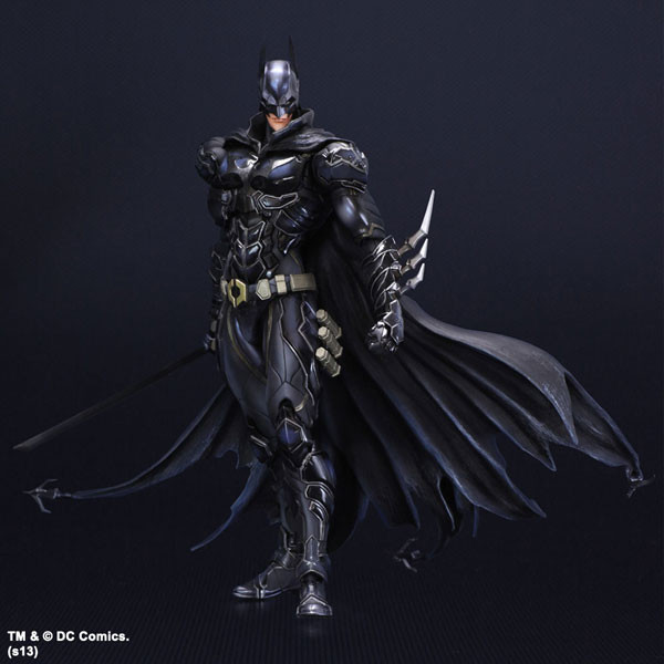 SAINTGI Batman v Superman Dawn of Justice Arkham Knight Batman Blue limited Doll DC Super Heroes PVC 22CM Model Kids Toy