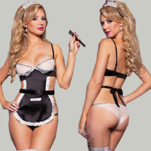 Bodystocking Sexy Exotic Lingerie Hot Lace Set Sexy Uniform Underwear Teddy Lingerie Sexy Maid Maid Cosplay Costumes Sex Dress