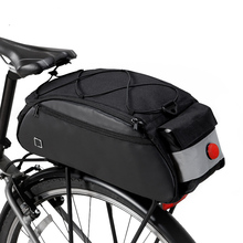 Aokali Bicycle Bag 2019 New Type Inner-lined Large Capacity Rack with Warning Lamp Safety Tail Bags