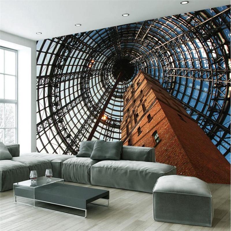 beibehang Large Custom Wallpaper 3D Vision Australian Building Space Tooling Living Room Backdrop Decoration