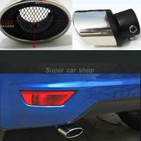 Stainless Steel Tail Pipes Muffler Modification For Peugeot 208 308 408 206 307