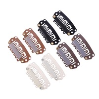 1000pcs/lot 28mm U Tip Snap Metal Clips With Silicone Back For Hair Extensions/Wig/Weft Hair Extension Tools