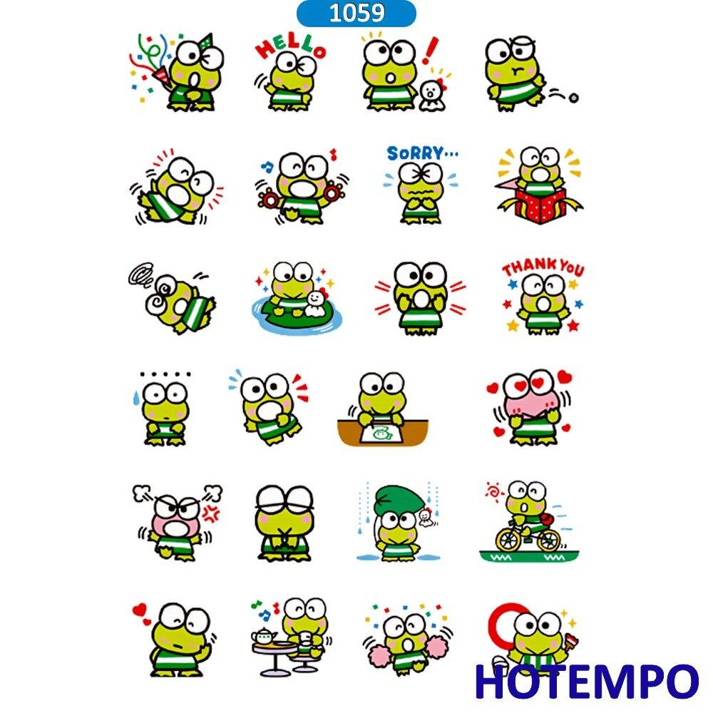 hotempo cartoon kerokero keroppi cute sanrio stickers pvc waterproof