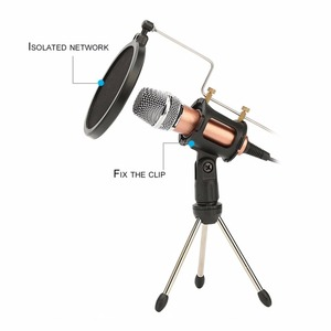 Image 5 - Metal Extendable Microphone Tripod Stand Boom Arm Microphone Bracket Folding with Shock Mount Mic Holder Clip and Filter