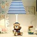 Капитан Медведь Детская Комната Привело Стол Свет Чтения Кровать Свет Рабочий Стол лампа 220 В В Светодиодные Настольные E14 Настольная Лампа Ребенок Кнопка Включения