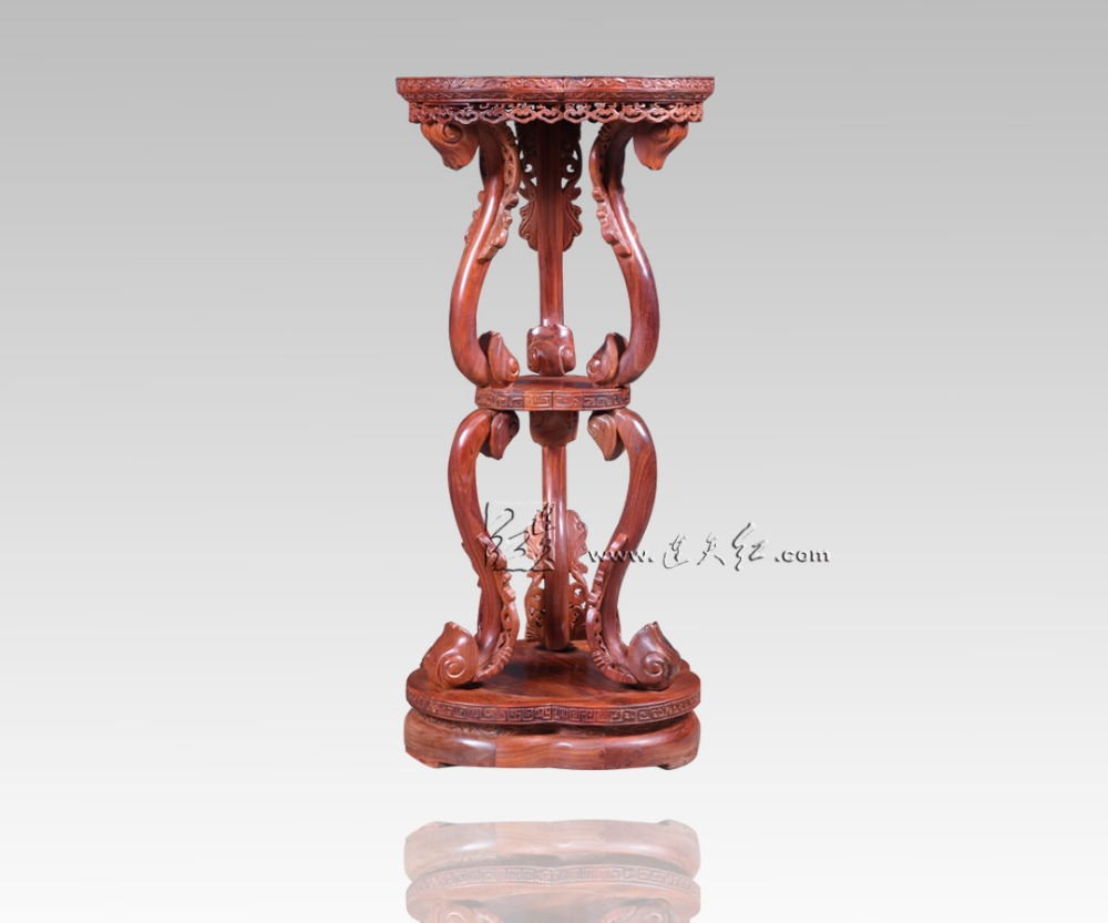 Incense Stand with Double RuYi Style Chinese Antique Arts&Crafts The Palace Museum Collection Cense Burma Rosewood China redwood small square wooden stool carved jade beads on the edge of the bench burma redwood classical furniture kids chair china rosewood
