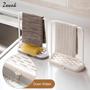 Ręcznik kuchenny uchwyt na ręcznik wieszak na szmatkę uchwyt na gąbkę do zlewu półka na przybory kuchenne naczynie łazienkowe Organizer do spuszczania tkanin tanie i dobre opinie Zowak Dish Cloth Hanger Rack Stojąc typu Nie-składany stojak Rozmaitości Pojedyncze Przechowywanie posiadaczy i stojaki