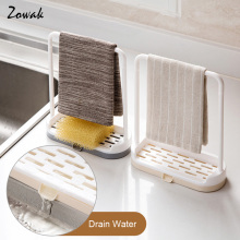 Towel Storage Hanging Rack Shelf Bathroom Kitchen Dishcloth Dish Cloth Cloth Hanger Wet Organizer Bathroom Sponge Removable