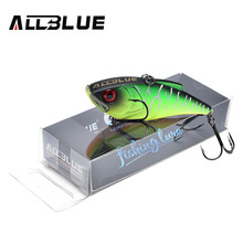 ALLBLUE NEW MODELS 70MM 17G VIB Fishing Lure Hard Bait  6 Colors Highly Responsive Lipless Crankbait ICE Fishing Tackle