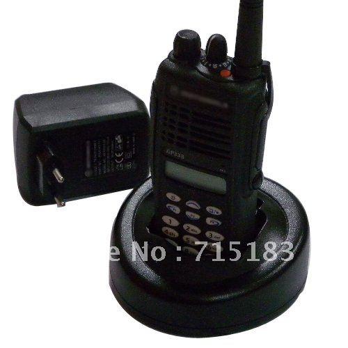 Free shipping GP338 VHF/UHFProfessional two-way radio with keypad and LCD display