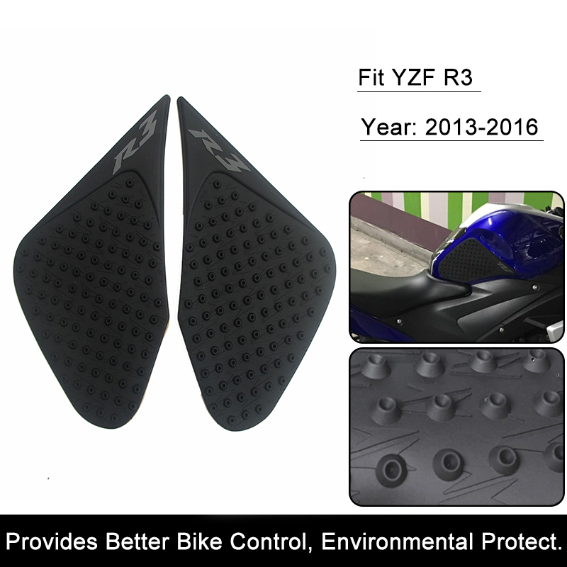 For Yamaha R3 2014 2015 2016 YZF-R3 Motorcycle Anti slip Tank Pad 3M Side Gas Knee Grip Traction Pads Protector Stickers