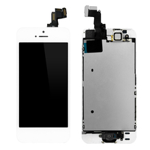 1PCS Alibaba China For Apple iPhone 5S LCD Display Touch Screen Full Set Digitizer Replacement Assembly LCD Phone Parts