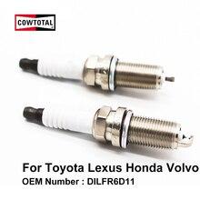 Cowtotal двойной Иридиевый Свеча зажигания DILFR6D11 для Honda Fit Insight Volvo S60 V60 XC90
