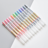 12 Colors Lot Transparent Scrub Gel Pen 0 5mm Colour Ink Pen Neutral Pen Marker Pen