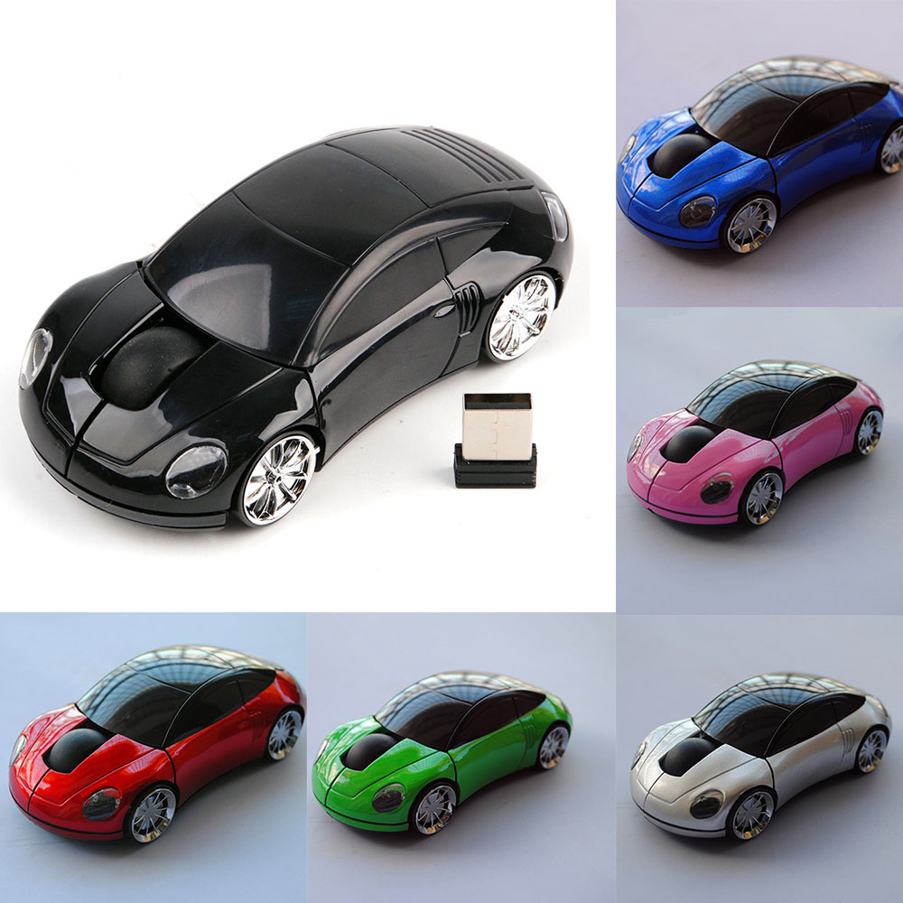 Portable Wireless Mouse For PC Laptop Mice 2.4Ghz USB Optical Computer Gaming Mice Receiver Mini Car Shape Button