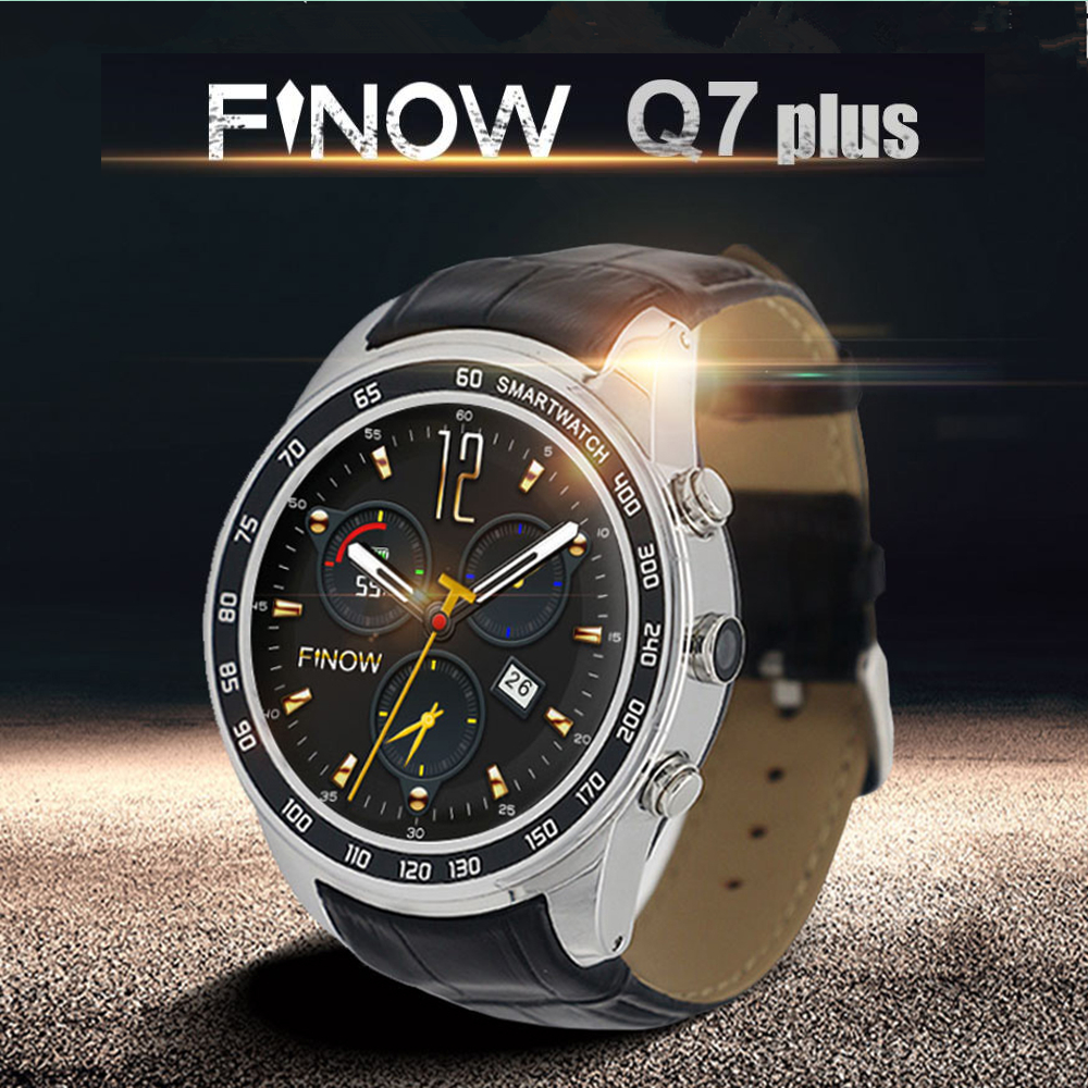 FINOW Q7 Plus 3G Smartwatch Phone 1.3 inch 8GB ROM Android Smart Watch Men Pedometer OTA GPS Heart Rate Montior Bluetooth Watch microwear l1 smartwatch phone mtk2503 1 3 inch bluetooth smart watch gps heart rate measurement pedometer sleep monitor