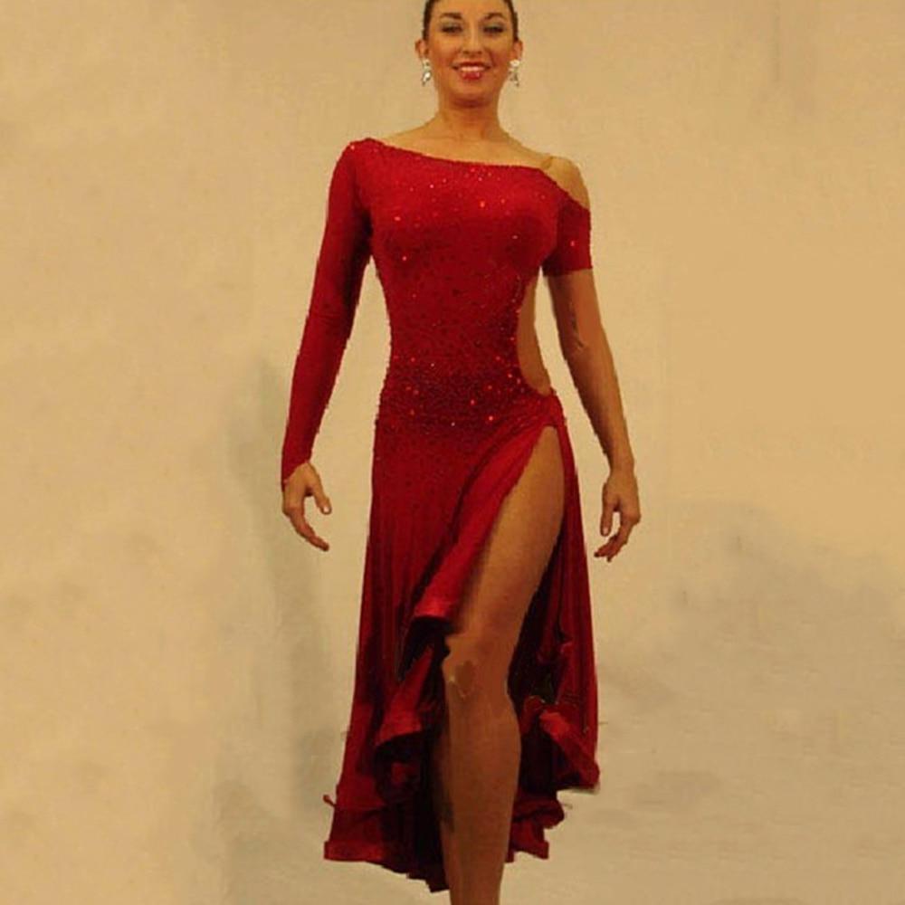 2018 Latin Dance Dress For Girls Ballroom Dance Dress Women Regata Feminina Flamenco Dresses Dace Wear Indian Dance Costume