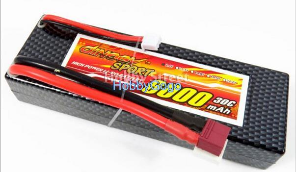 Free shipping 2S 7.4V6000mAh 30C Discharge Lipo Battery Burst 60C max charge rate 3C18A high Li-polymer for 110th 18th car