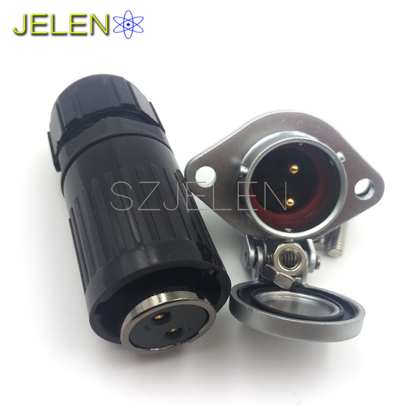HE20, 2 pin plug (female) , 2 pin socket(male),cable connector, Car power charging connector 2 pin, Waterproof dustproof m12 aviation plug 8pins stragiht female or male plugs sensor connector socket connectors