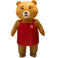 Halloween Party Ted Mascot Inflatable Costume Adult Teddy Bear Anime Cosplay Costume Funny Cartoon Doll Performance Costume