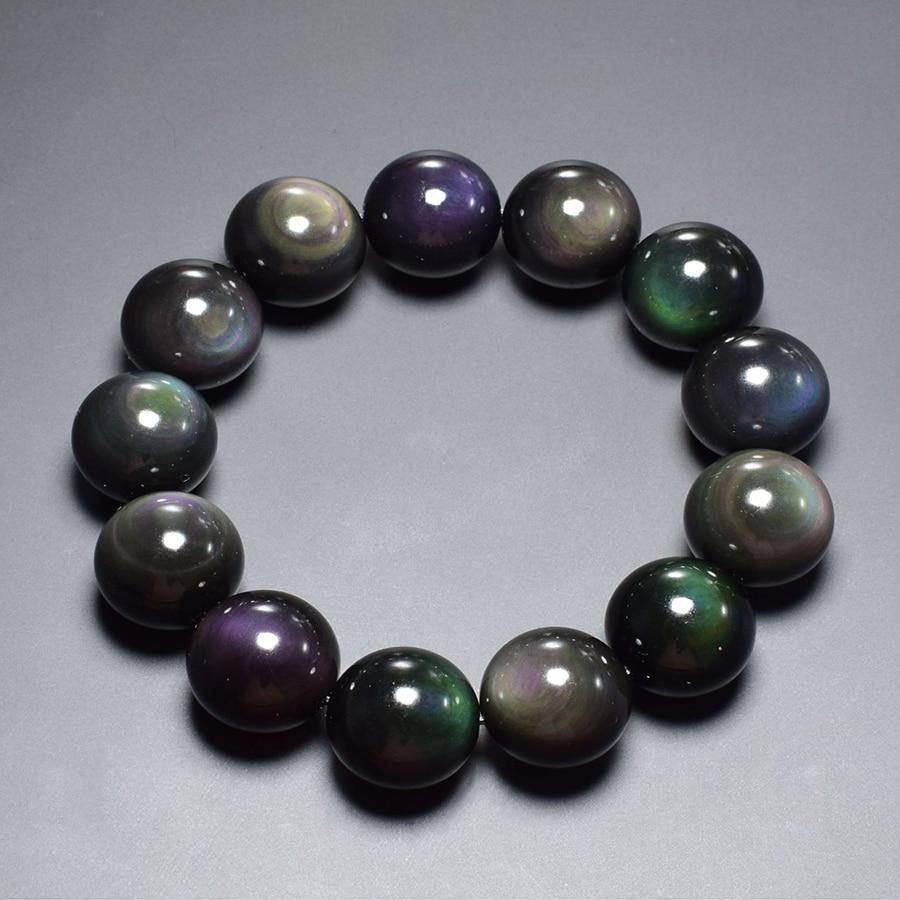 fe9bb6ae19b3 Pulsera Natural de obsidiana negra Natural para mujer