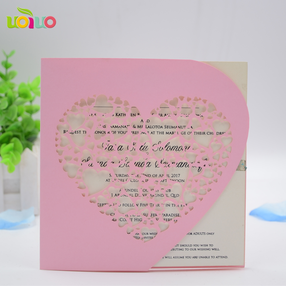 Papercrafts handmade laser cut heart shape invitation card with papercrafts handmade laser cut heart shape invitation card with envelop various colors available in cards invitations from home garden on aliexpress jeuxipadfo Gallery