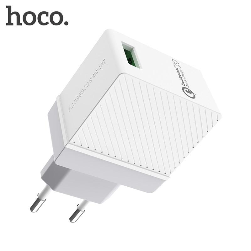 НОСО QC3.0 Quick Charge Универсальный USB Зарядное устройство EU US UK Вилки Портативный для iphone Samsung Xiaomi Huawei зарядный адаптер юсб зарядка для Айфона Айп…