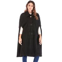 ZADORIN Long Black Women Wool Coat 2019 Autumn Lapel Single Breasted Cloak Vintage Cape Coat Europe Clothes Outerwear Female