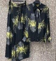 2019 Весна и лето новый женский Шелковый костюм 0430