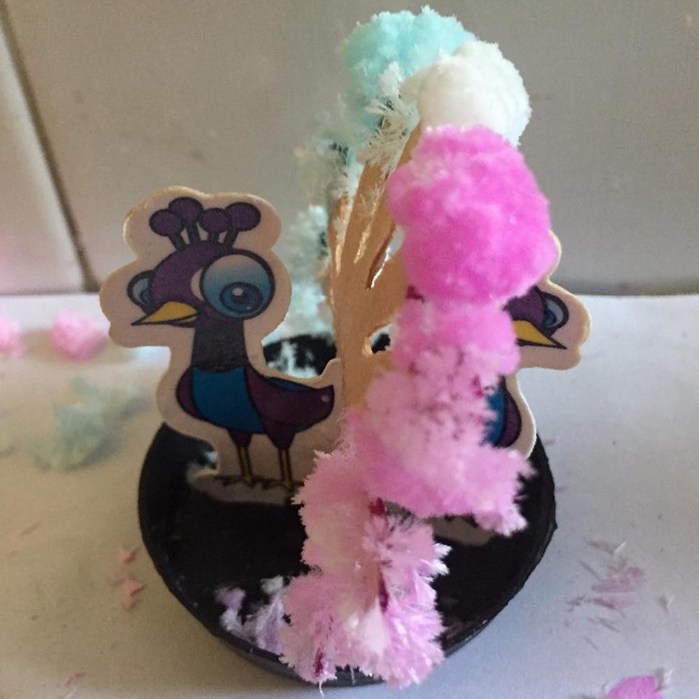 2019 85mm multicolore papier croissant magique paon arbre magique flamant rose arbres de noël enfants Science découverte jouets nouveauté 50 pièces