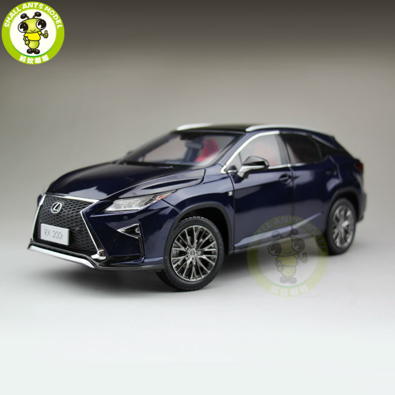 1/18 Toyota Lexus RX 200T RX200T Diecast Model Car Suv hobby collection Gifts Blue Color white 1 18 scale lexus rx200t rx 200t suv luxury collection diecast model car aluminum