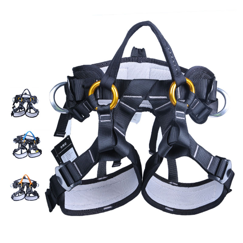 P113 Outdoor Mountaineering climbing Cave exploration training equipment Tree trim Aerial belt Half body harness seat