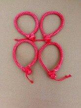 Livraison gratuite 4 pièces 4mm * 90mm couleur rouge ATV manilles souples, manille synthétique pour Yacht, manille de corde