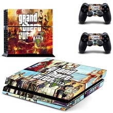 GTA 5:Grand Theft Auto 5 PS4 Skin Cover Skin Sticker For sony PlayStation 4 PS4 Console + 2Pcs Controller Cover