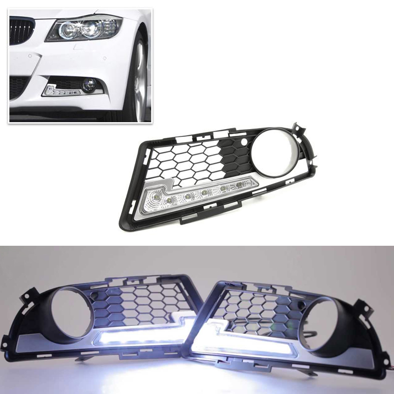 Brand New Led Daytime Running Lights For BMW E90 E91 3 Series 2009-2012 M Tech M High Power Front Bumper Fog Daylights DRL high quality light high power led daytime running lights for bmw e90 lci 3 series sedan 15w 2009 2012 freeshipping