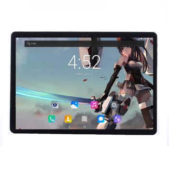Free Shipping 4G Tablets 10 2.5D Screen Android 7.0 10 Core 64GB ROM 1920x1200 IPS Metal Cover Wifi 10.1 inch tablet pc +gift