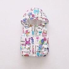 Зимняя теплая верхняя одежда для маленьких девочек; плотный хлопковый жилет с капюшоном для новорожденных девочек; Зимняя Теплая Одежда для младенцев; пальто