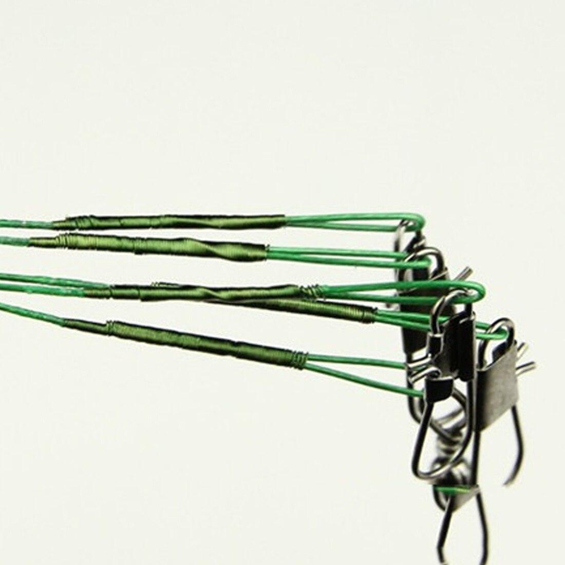 20Pcs Anti-bite Fly Leash Fishing Lead Line Rope Wire Leading Line Swivel Ke
