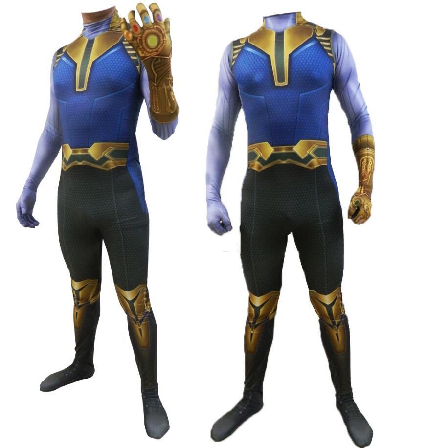 New Kids Avengers Endgame Thanos Costume Mask Infinity Gauntlet Glove Halloween Costumes for Boys Marvel Superhero Cosplay