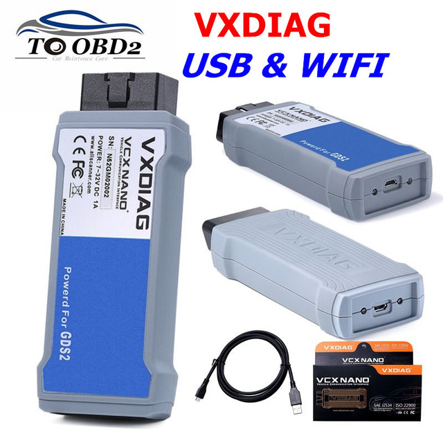 VXDIAG VCX NANO for GM/for OPEL GDS2 Diagnostic Tool WIFI & USB Version  Device Support Multi Languages