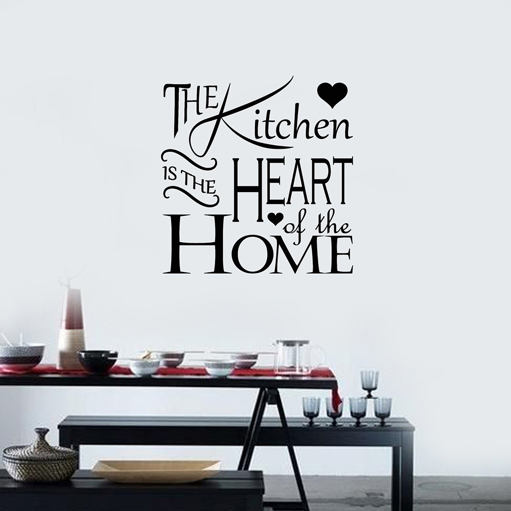 Kitchen Cook Food Quote Wall Stickers Art Dining Room ...