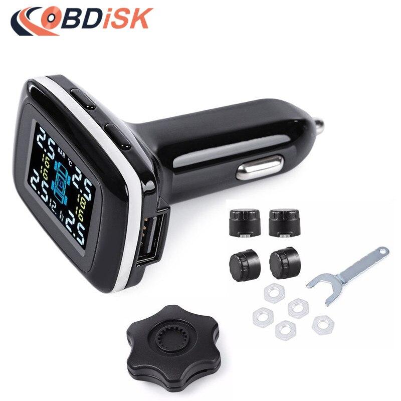 Wireless Smart Car font b TPMS b font 12V Digital Tire Pressure Monitoring System Tire Pressure