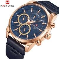 Mens Watches NAVIFORCE Luxury Brand Men's Quartz 24 Hour Date Watches Man Waterproof Clock Men Sport Leather Starp Wrist Watch