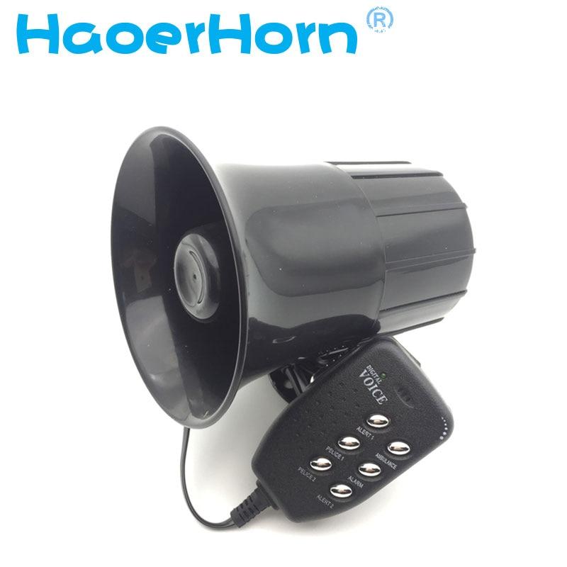 DC 30W 12V 6sound 150db Tone Wehicle Boat Car Motor Motorcycle Van Truck Siren Loud Horn Auto Speaker Alarm can speaker