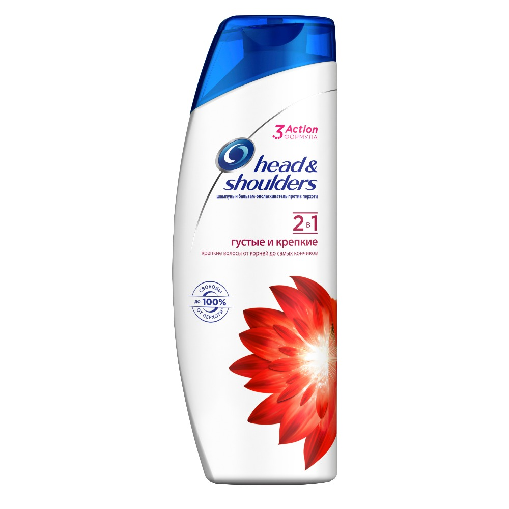 HEAD & SHOULDERS Shampoo and balm rinse 2in1 against dandruff Thick and strong 400ml