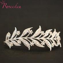 rhinestone leaves bridal wedding hair pieces Princess Wedding Hair Accessory high quality women tiara para noiva RE485