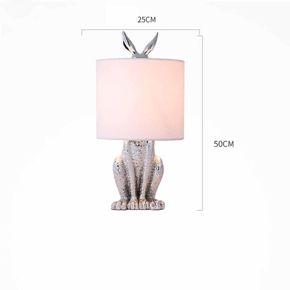 Современные в масках кролик настольные лампы Смола Ретро промышленные настольные лампы для спальни прикроватные Кабинет Ресторан декоративные светильники
