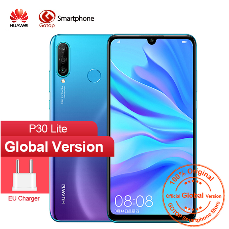 Global Version HUAWEI P30 Lite NOVA 4E Smartphone 6.15 Inch Kirin 710 Octa Core Mobile Phone Android 9.0 32MP Camera CellPhone